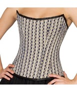 Black White Check Polyester Halloween Costume Gothic Bustier Overbust Co... - $69.29+