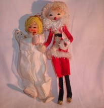 VINTAGE SANTA AND ANGEL PIPE CLEANER ORNAMENT - $9.99