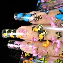 Colorful Nail Art Transfer Foil Stickers Decorations Decals Plastic Nail Tools - $5.93