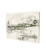 US Air Force Curtiss P-40N War Plane Art Design 16x20 Aluminum Wall Art - $59.35