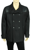 NEW CALVIN KLEIN DRESSY REFINED DOUBLE BREASTED WOOL BLEND PEA COAT XL - $63.74