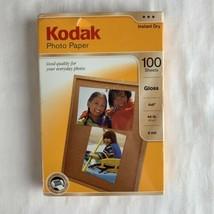 "Kodak Photo Paper 4""x 6"" Gloss 100 Sheets Each Instant Dry 44 Lb. NEW Sealed - $20.69"