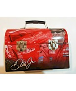 """Dale Earnhardt Jr #8 NASCAR Metal Lunch Box Red - 9"""" Long Collectible GUC - $7.91"""