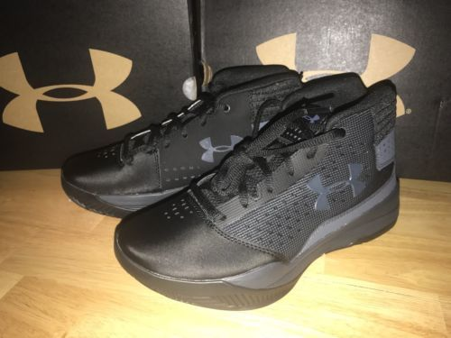 7205f7d137717 12. 12. Previous. Under Armour Jet 2017 Big Kids Black Rhino Basketball  Shoes 3.5Y (1296009-001