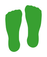 LiteMark Yellow Green Sock Footprint Decal Stickers - Pack of 12 - $19.95