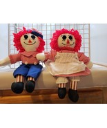 """Rag Doll Raggedy Ann and Andy Wrong Way Socks Embroidered Eyes 14"""" - $11.03"""