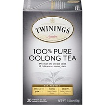 Twinings of London Pure Oolong Tea Bags, 20 Count Pack of 6 - $26.98