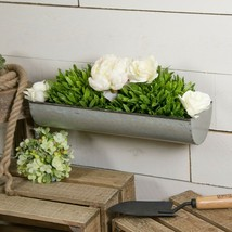 "24"" Metal Wall Planter Decorative Natural Metal Tray Style Wall Mount Pl... - $34.95"