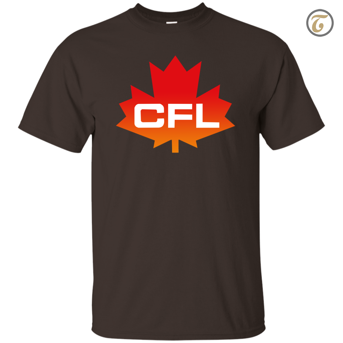 CFL, Logo, Canadian, Football, League, Men's T-Shirt - Dark Chocolate