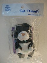 """PUSS PUSS Black"" Cat Fun Friends Backpack or Key Chain Fob w/ ID card, NIP - $1.00"