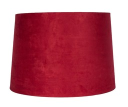"Urbanest Suede Drum Lampshade, 14"" x 16"" x 11"", Spider Fitter, 5 colors - $34.99"
