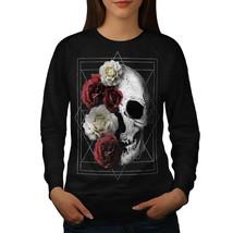 Skull Rose Flowers Jumper Devil Head Women Sweatshirt - $18.99
