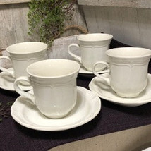 Mikasa French Countryside Cups and Saucers Set of 4 - £23.22 GBP