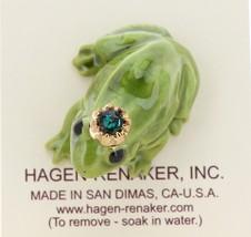 Hagen-Renaker Miniature Ceramic Frog Figurine Birthstone Prince 05 May image 3