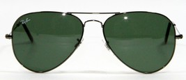 Ray Ban 3025 W0879 Gunmetal Aviator Sunglasses 58mm New and Authentic - $79.15