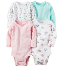 Carter's Baby Girl Carter's 4-pk. Solid & Print Bodysuits New Born - 24 M - $21.99