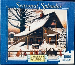 Charles Wysocki 1000 Piece Jigsaw Puzzle Game Cocoa Break At The Copperf... - $544.50