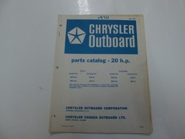 1970 Chrysler Outboard 20 HP Parts Catalog Manual OB 1157 STAINS WRITING... - $19.75