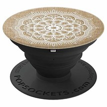 Boho Farmhouse Lace Mandala - Lace + Burlap Authentic - PopSockets Grip ... - $21.28