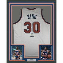 FRAMED Autographed/Signed BERNARD KING 33x42 New York White Jersey Becke... - €357,99 EUR