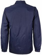 Men's Windbreaker Lightweight Waterproof Sherpa Button Up Athletic Coach Jacket image 7