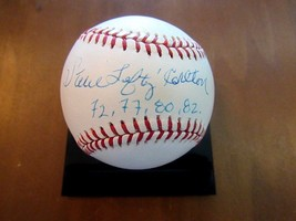 Steve Carlton Lefty Philadephia Phillies Hof Stat Signed Auto Vtg Baseball Jsa - $118.79