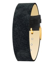 Moog Paris Mat Black Pecari Leather Bracelet for Women, Pin Clasp, 18mm ... - $46.65