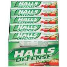Halls Defense Vitamin C Strawberry 20 Rolls Supplement Drops 180 Total - $21.29