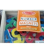 Melissa & Doug 37 Magnetic Wooden Number 0-20 and 5 Math Signs 3+ - $9.89