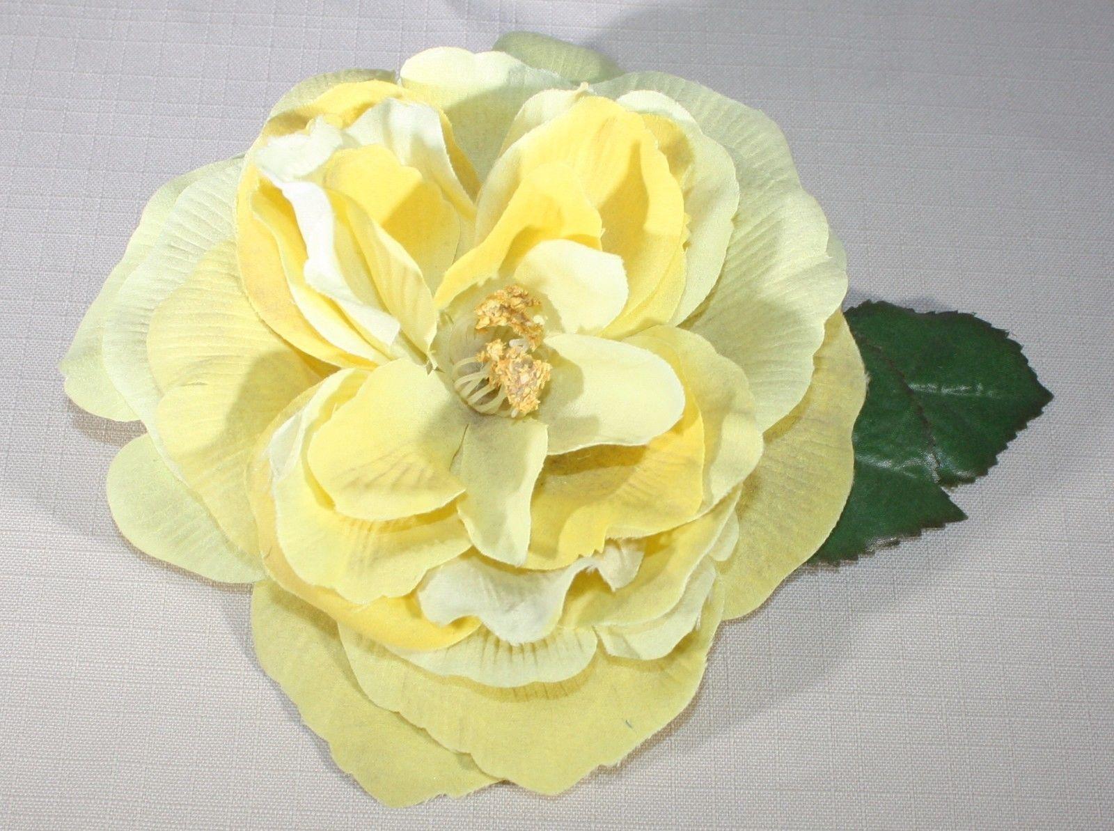 55 Bonjour Fleurette Large Yellow Silk And Similar Items