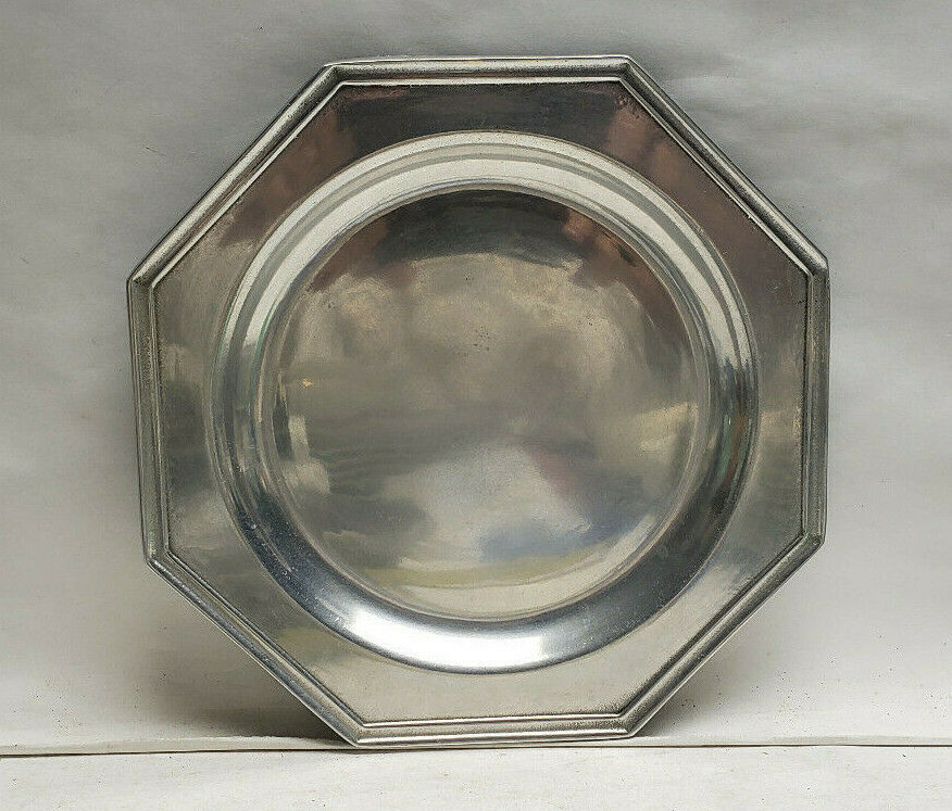 "Primary image for WILTON ARMETALE Pewter - MULBERRY HILL Pattern (glossy) - 7"" SALAD PLATE"