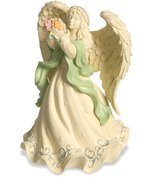 AngelStar Platinum Series Angel Holding Flowers Figurine, 6-1/2-Inch - £19.02 GBP
