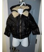 London Fog Moto style Faux Leather Bomber Jacket Size 2T EUC - $35.20