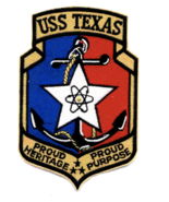 """5"""" NAVY USS TEXAS CGN-39 NUCLEAR GUIDED MISSILE CRUISER PATCH  - $18.04"""