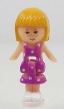 1991 Vintage Polly Pocket Doll Funtime Clock (blue) Sunshine Midge Bluebird Toy - $9.00