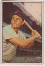 Gil Coan Signed Autographed 1953 Bowman Baseball Card - Washington Senators - $19.99