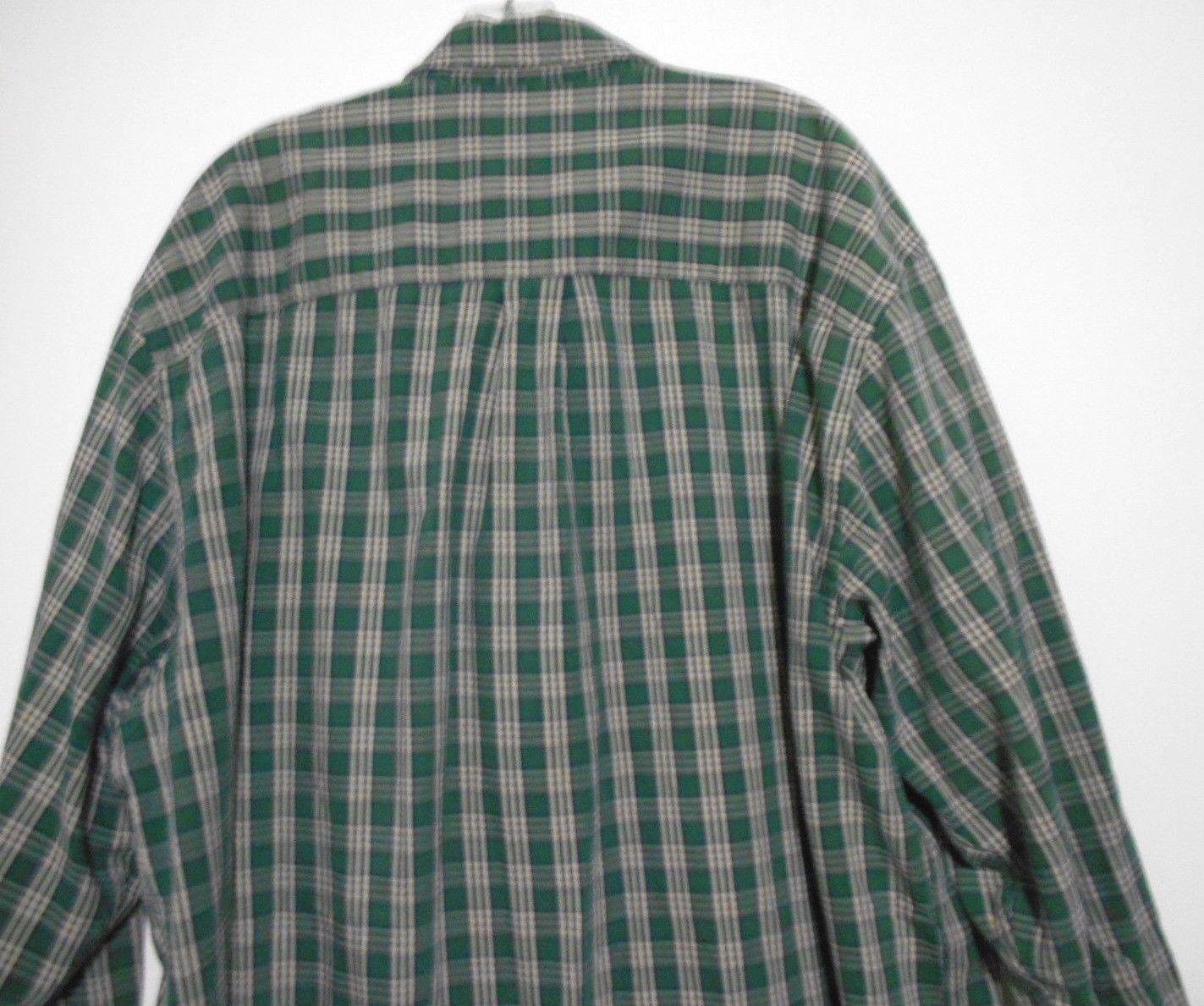 Abercromble & Fitch Size XL Mens  Green Plaid 100% Cotton  Long Sleeve Shirt