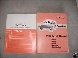 1987 Toyota TERCEL SEDAN Service Repair Shop Manual Set W WIRING DIAGRAM - $60.95
