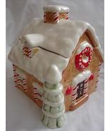 Christmas Holiday Gingerbread House Cookie Jar - $7.99