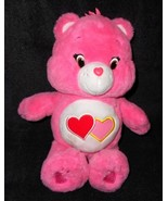 "2014 Love a Lot Care Bear Plush Stuffed Animal Pink Hearts 14"" Just Play - $13.32"