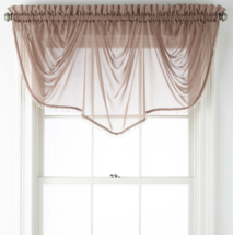 """Home Expressions Lisette Sheer Imperial Beaded Valance 90"""" W X 33 1/2"""" L New   - $21.99"""