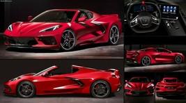 2020 Chevrolet Corvette C8 Stingray red  POSTER 24 x 36 INCH POSTER     - $18.99