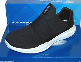 Skechers Go Run Mojo Mania Black White Men's Slip Comfort Shoes Sneakers US 12 - $75.23