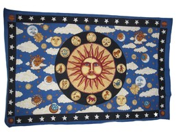 Zodiac Astrology Tapestry Bed Cover Nwt 54 X 86 Inches - $23.75