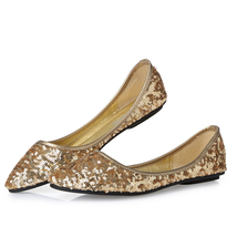 champagne lace wedding shoes,sequin gold bridal shoes,sequin gold weddin... - $38.00