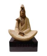 Handmade Clay Deep Meditate Kwan Yin , Bodhisattva , Guanyin Statue n169 - $2,072.00