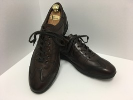 Kenneth Cole New York Mens Brown Leather Lace Up Casual Shoe Sneaker Siz... - $47.21