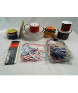 Lot of Random Ribbon Spools and Pieces Variety of Colors Brands Material... - $17.61