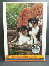 Kodacolor Shepard Puppy Collies 550 Piece Vintage 1994 Fun Jigsaw Puzzle... - $21.77