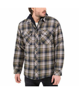 Boston Traders Men's Ivy Green Quilted Lining Flannel Jacket w/Hood, Siz... - $25.73